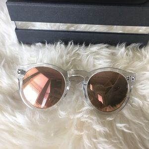 We stared Leaning Voyager Clear Sunglasses